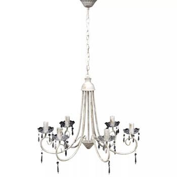 Elegantan bijeli luster s 6 žarulja