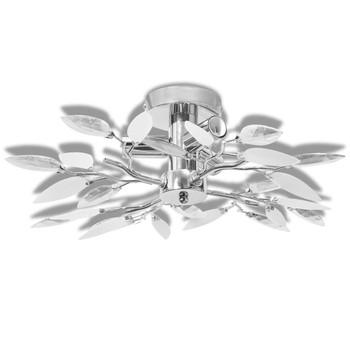 Stropna lampa s kristalima u obliku lišća od akrila 3 E14 žarulje