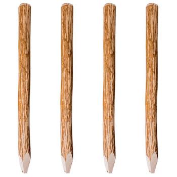 vidaXL Zašiljeni drveni stupovi za ogradu 4 kom drvo lijeske 120 cm