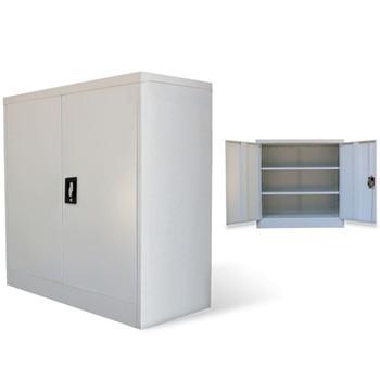 vidaXL Uredski Ormar s 2 Vrata 90 cm Sivi Metalni