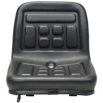 vidaXL Univerzalno Traktorsko Sjedalo Crno