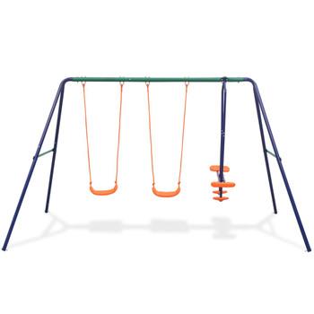vidaXL Set ljuljački s 4 sjedala narančasti