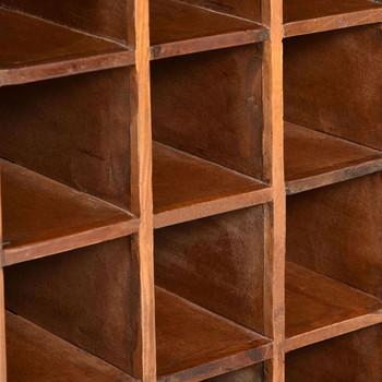 vidaXL Stalak za vino za 16 boca od masivnog obnovljenog drva