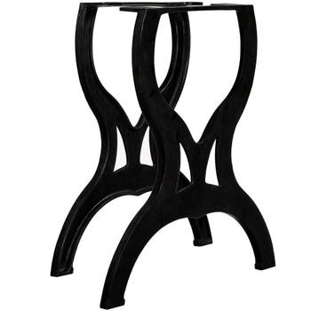 vidaXL Noge za blagovaonski stol 2 kom u obliku X od lijevanog željeza