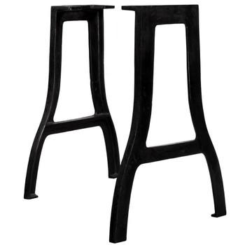 vidaXL Noge za blagovaonski stol od lijevanog željeza 2 kom u obliku A