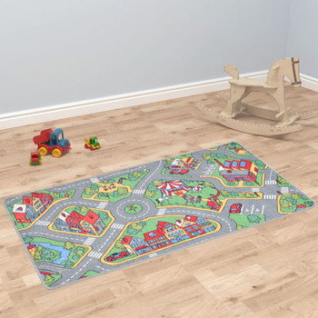vidaXL Tepih za igranje 100 x 165 cm uzorak gradske ceste