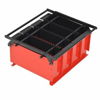 vidaXL Preša za izradu briketa od papira čelična 38 x 31 x 18 cm crno-crvena