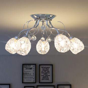 vidaXL Stropna svjetiljka za 5 G9 žarulja 200 W