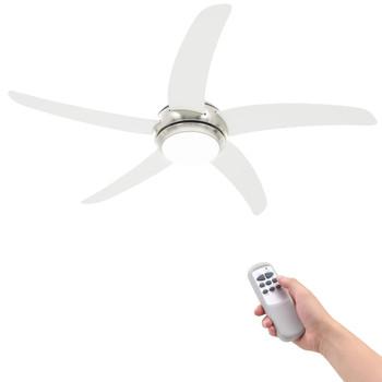 vidaXL Ukrasni stropni ventilator sa svjetlom 128 cm bijeli