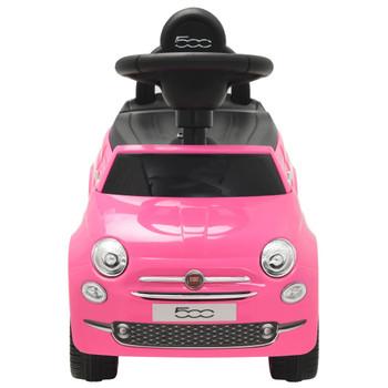 vidaXL Autić Fiat 500 ružičasti