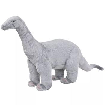 vidaXL Stojeća plišana igračka dinosaur brachiosaur sivi XXL