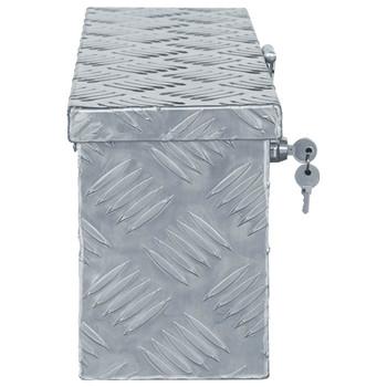 vidaXL Aluminijska kutija 48,5 x 14 x 20 cm srebrna