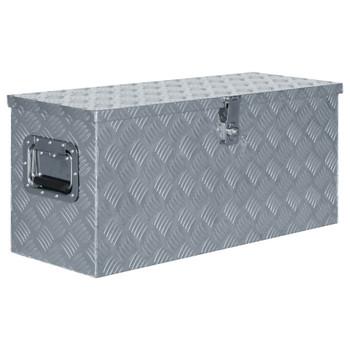 vidaXL Aluminijska kutija 80 x 30 x 35 cm srebrna