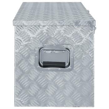 vidaXL Aluminijska kutija 110,5 x 38,5 x 40 cm srebrna