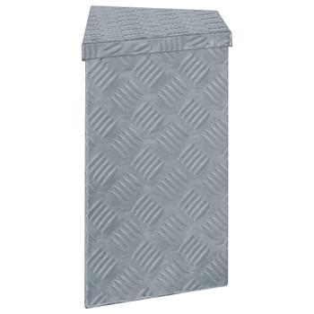 vidaXL Aluminijska kutija 70 x 24 x 42 cm trapezoidna srebrna