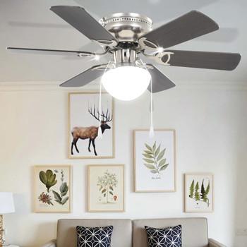 vidaXL Ukrasni stropni ventilator sa svjetlom 82 cm tamnosmeđi