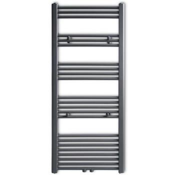 Kupaonski radijator za centralno grijanje sivi ravni 600 x 1424 mm