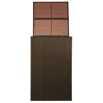 vidaXL Kutija od poliratana za kantu za otpad smeđa 76 x 78 x 120 cm