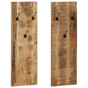 vidaXL Zidne vješalice za kapute od masivnog drva manga 2 kom 36 x 110 x 3 cm