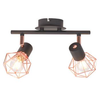 vidaXL Stropna svjetiljka s 2 LED žarulje sa žarnom niti 8 W