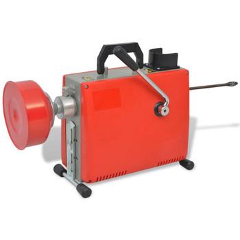 vidaXL Stroj za čišćenje cijevi 250 W 15 m x 16 mm 4,5 m x 9,5 mm