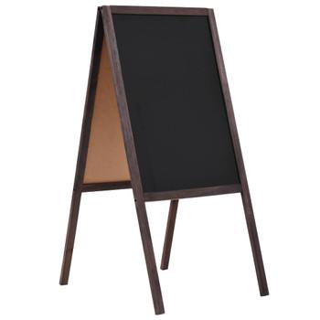 vidaXL Dvostrana samostojeća ploča od cedrovine 40 x 60 cm