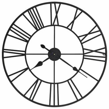 vidaXL Starinski zidni sat s kvarcnim mehanizmom metalni 80 cm XXL