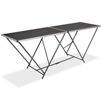 vidaXL Sklopivi stol za lijepljenje od MDF-a i aluminija 200 x 60 x 78 cm