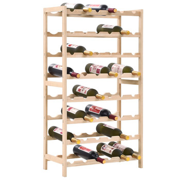 vidaXL Stalak za vino od cedrovine 57,5 x 28 x 102 cm