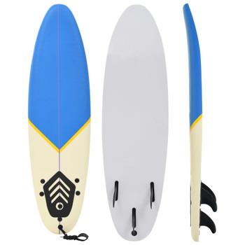 vidaXL Daska za surfanje 170 cm plava i krem