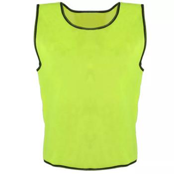 Sportske majice bez rukava za djecu, Žute, 10 komada