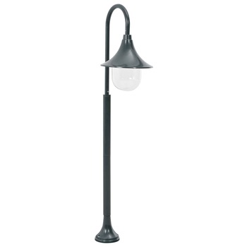 vidaXL Vrtna stupna svjetiljka od aluminija E27 120 cm tamnozelena
