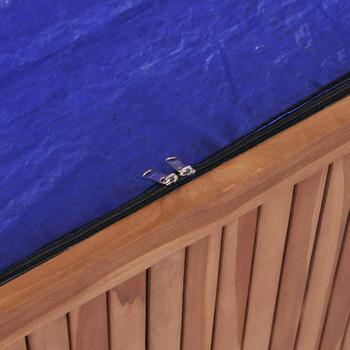 vidaXL Vrtna kutija za pohranu od masivne tikovine 120 x 50 x 58 cm