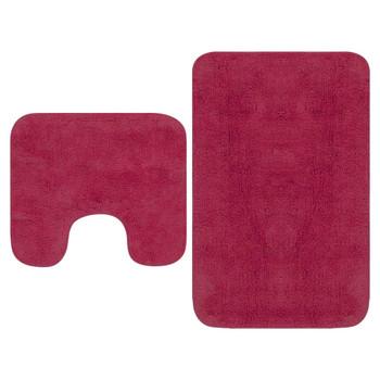 vidaXL 2-dijelni set kupaonskih otirača od tkanine boja fuksije