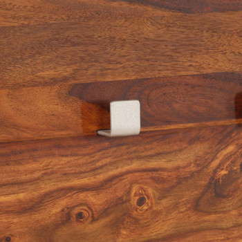 vidaXL Vješalica za kapute od masivnog drva šišama 118 x 40 cm