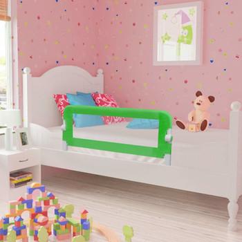 vidaXL Sigurnosna ogradica za dječji krevet 2 kom zelena 102 x 42 cm
