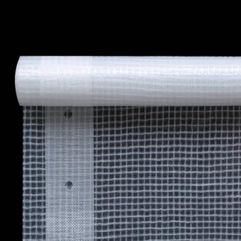 vidaXL Cerada Leno 260 g/m² 1,5 x 10 m bijela