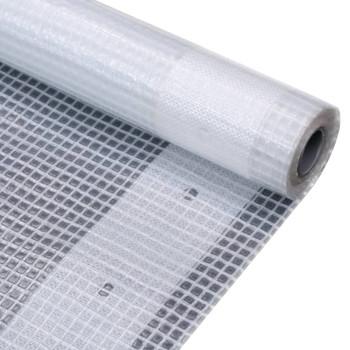 vidaXL Cerada Leno 260 g/m² 4 x 3 m bijela