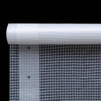 vidaXL Cerada Leno 260 g/m² 4 x 4 m bijela