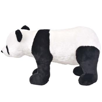 vidaXL Stojeća plišana igračka panda crno-bijela XXL