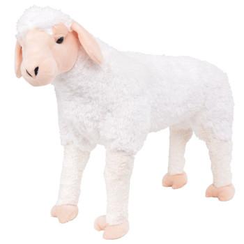 vidaXL Stojeća plišana igračka ovca bijela XXL