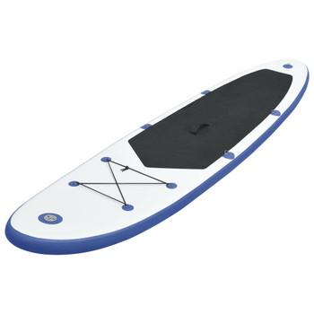 vidaXL Set daske za veslanje stojeći na napuhavanje plavo-bijeli