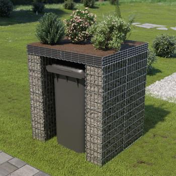 vidaXL Gabionski zid za kantu od pocinčanog čelika 110 x 100 x 130 cm