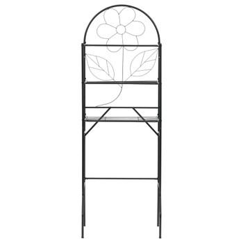 vidaXL Stalak za kupaonicu crni 60 x 33 x 174 cm