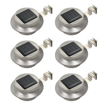 vidaXL Vrtne solarne svjetiljke 6 kom LED okrugle 12 cm bijele