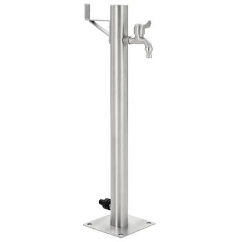 vidaXL Vrtni stup za vodu od nehrđajućeg čelika okrugli 65 cm