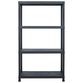 vidaXL Stalak za pohranu crni 200 kg 80 x 40 x 138 cm plastični