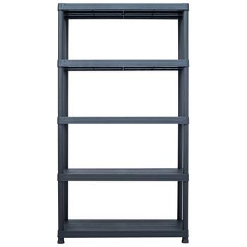 vidaXL Stalak za pohranu crni 500 kg 100 x 40 x 180 cm plastični