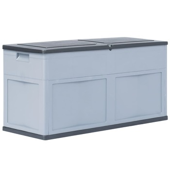 vidaXL Vrtna kutija za pohranu 320 L sivo-crna