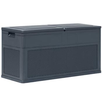 vidaXL Vrtna kutija za pohranu 320 L antracit